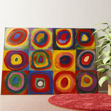 Personalisiertes Wandbild Farbstudie