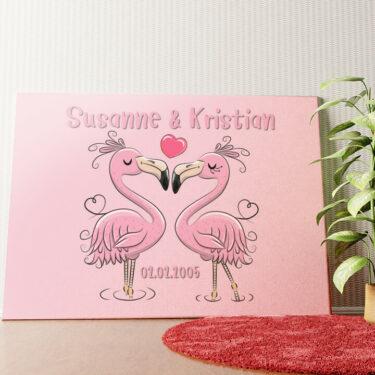 Personalisiertes Wandbild Flamingorama