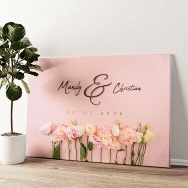 Flowers Wandbild personalisiert