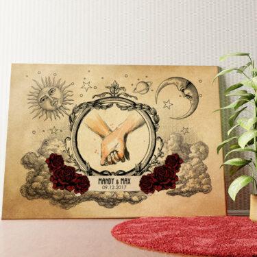 Personalisiertes Wandbild Für Immer und Ewig