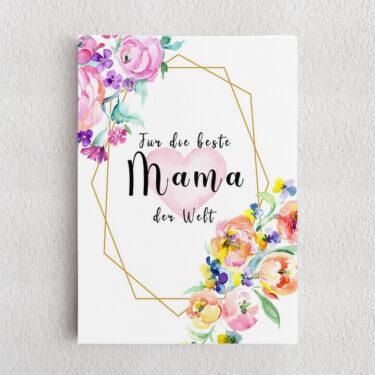 Personalisiertes Leinwandbild Für Mama