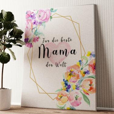 Für Mama Wandbild personalisiert