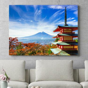 Personalisierbares Geschenk Fujiyoshida Pagode Japan