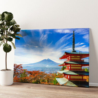Fujiyoshida Pagode Japan Wandbild personalisiert