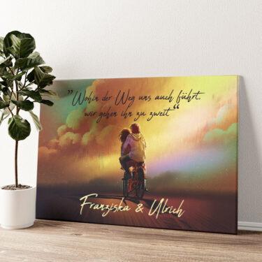 Gemeinsam Wandbild personalisiert