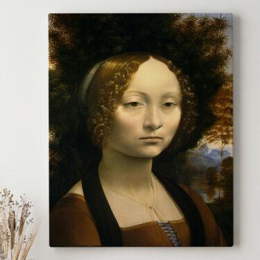 Leinwandbild personalisiert Ginevra de Benci