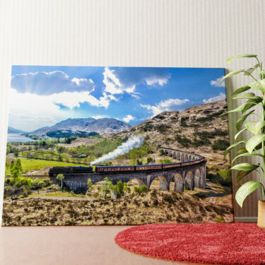 Personalisiertes Wandbild Glenfinnan Viadukt Schottland