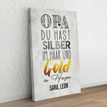 Gold im Herzen für Opa