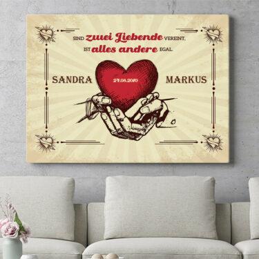 Personalisierbares Geschenk Hände der Liebe