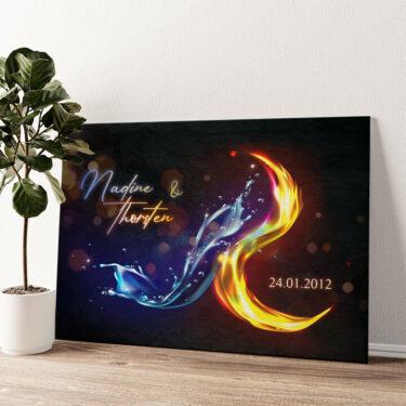 Heiß und Kalt Wandbild personalisiert
