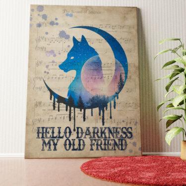 Personalisiertes Wandbild Hello Darkness My Old Friend