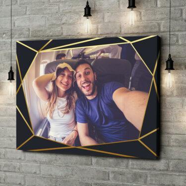 Leinwandbild personalisiert Hintergrund: Art Déco