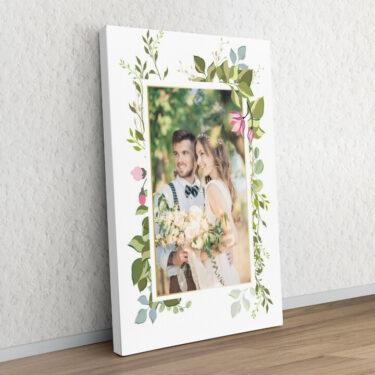 Hintergrund: Blumenranke
