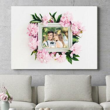 Personalisierbares Geschenk Hintergrund: Blumenschmuck