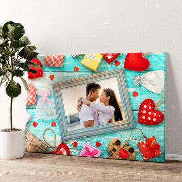 Hintergrund: Herz an Herz Wandbild personalisiert