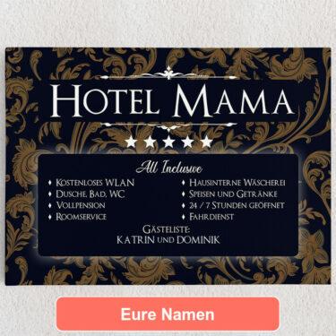 Personalisiertes Leinwandbild Hotel Mama