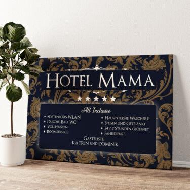 Hotel Mama Wandbild personalisiert