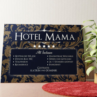 Personalisiertes Wandbild Hotel Mama