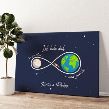 Infinity Wandbild personalisiert