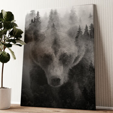 Into The Forest I Go Wandbild personalisiert