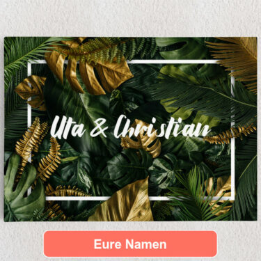 Personalisiertes Leinwandbild Jungle