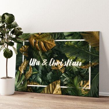 Jungle Wandbild personalisiert