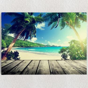 Personalisiertes Leinwandbild Karibikstrand