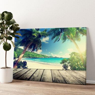 Karibikstrand Wandbild personalisiert