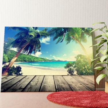 Personalisiertes Wandbild Karibikstrand