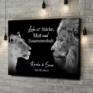 Leinwandbild personalisiert King & Queen (Schwarz)