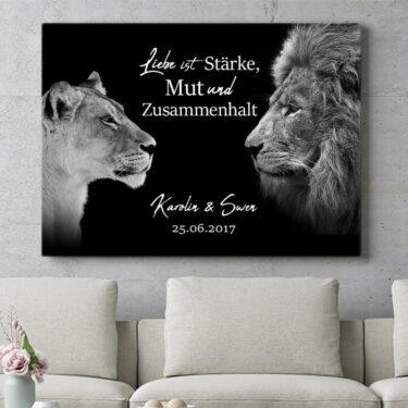 Personalisierbares Geschenk King & Queen (Schwarz)