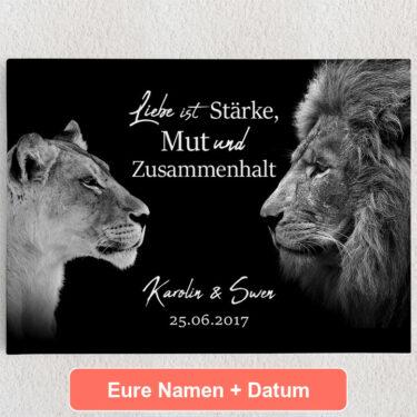 Personalisiertes Leinwandbild King & Queen (Schwarz)
