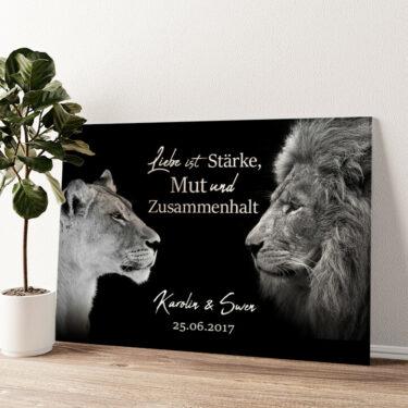 King & Queen (Schwarz) Wandbild personalisiert