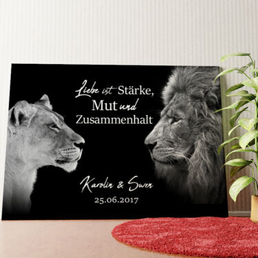 Personalisiertes Wandbild King & Queen (Schwarz)