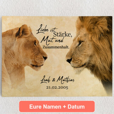 Personalisiertes Leinwandbild King & Queen