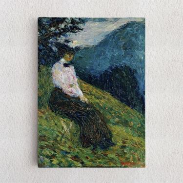 Personalisiertes Leinwandbild Kochel - Gabriele Münter