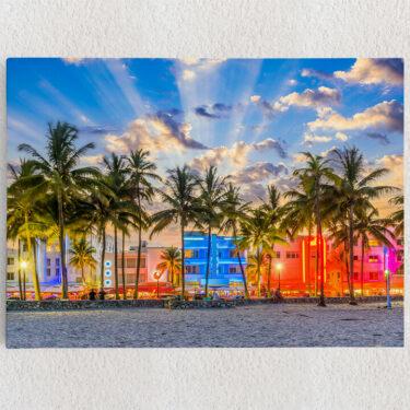 Personalisiertes Leinwandbild Küste von Miami