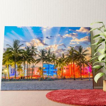 Personalisiertes Wandbild Küste von Miami