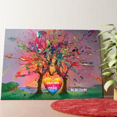 Personalisiertes Wandbild Kunterbunte Liebe