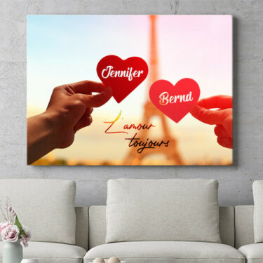 Personalisierbares Geschenk L'amour Toujours