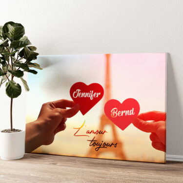 L'amour Toujours Wandbild personalisiert