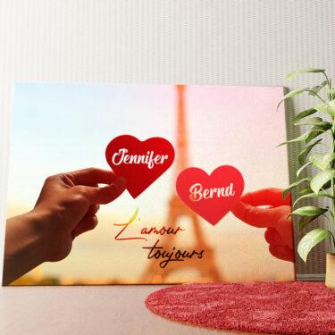 Personalisiertes Wandbild L'amour Toujours