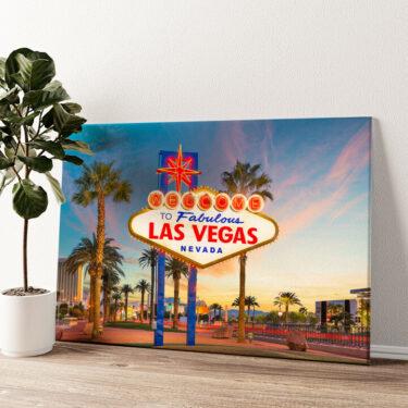 Las Vegas Wandbild personalisiert