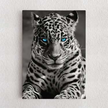 Personalisiertes Leinwandbild Leopard
