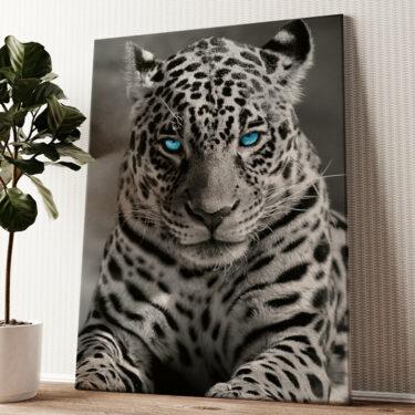 Leopard Wandbild personalisiert