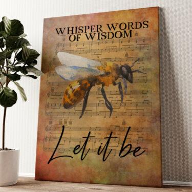 Let it be Wandbild personalisiert