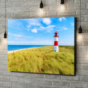 Leinwandbild personalisiert Leuchtturm auf Sylt