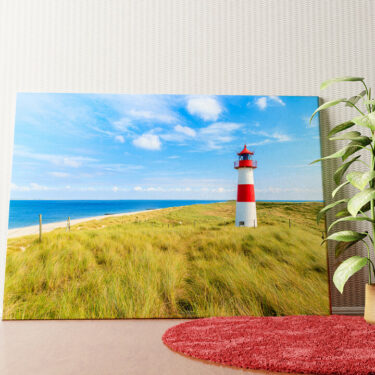 Personalisiertes Wandbild Leuchtturm auf Sylt