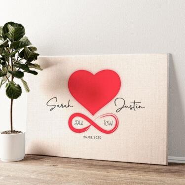 Liebe des Lebens Wandbild personalisiert