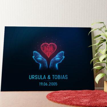 Personalisiertes Wandbild Liebe in den Händen